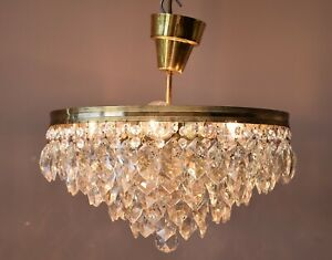 Antique / Vintage Flush Crystal Chandelier, lighting, Low Ceiling pendant Lamp