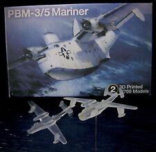 UPGRADE! 1/700 Martin PBM Mariner Flying Boat (x2) 3D Printed - W/L & Full Hull