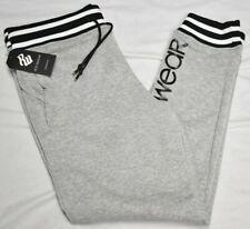 Rocawear Jogger Pants Men Pro League Fleece Logo Sweatpants Grey Streetwear P932
