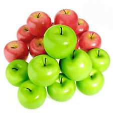 10pcs Realistic Artificial Fake Red Green Apples Fruit Kitchen & Home Decoration