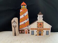 New ListingCats Meow Village Hershey'S Reese'S Lighthouse, Quilt Barn, Chocolate Time Clock