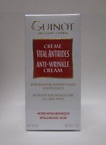 Guinot Creme Vital Antirides Anti-Wrinkle Cream 1.7 oz / 50 ML - New in Box