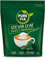 PURE VIA ® Stevia Leaf Sweet Granulés 250 g x 4 1 kg Pack