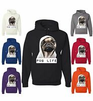 Pug Life Funny Sweatshirt Thug Life Dog Parody Hipster Pet Hoodie Rap Gangsta