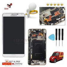 for Samsung Galaxy Note 3 N9005 Touch Screen LCD Display Digitizer Frame White