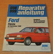 FORD Fiesta 1,4i 1,6 Motor Diesel ab 9/1986 Handbuch OVP Reparaturanleitung B998