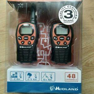 MIDLAND M48S Walkie Talkie Dos Vías Licencia Libre Radio