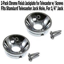 2-Pack ELECTROSOCKET Jack Plate fits Fender Telecaster CHROME Upgrade Your Tele!