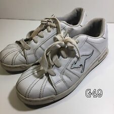 Kangaroos White Classic Style Trainers Sneakers Size UK 7