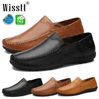 Men's Formal Leather Casual Driving Moccasins Shoes Slip On Loafers Large Sizes