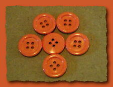 Lot 5 BOUTONS Corail rose orange  1,8 cm 18 mm * 4 trous Button couture sewing