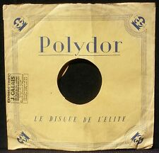 Pochette 78 trs / 78 RPM avec tampon Express'photo J.Calais, Aulnay-sous-Bois EX