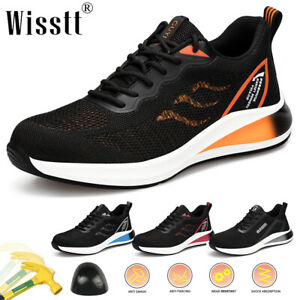 Mens Running Ultralight Boots Work Shoes Mesh Military Steel Toe Safety Trainers