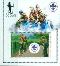 2020 scouts children campfire bugle music Souvenir Sheet