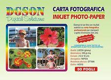 100 FOGLI CARTA FOTOGRAFICA 13X18 FOTO GLOSSY LUCIDA 240 GR. PER INKJET