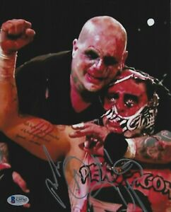 Pentagon Jr. & Vampiro Signed 8x10 Photo BAS Beckett COA Lucha Libre Underground
