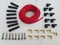 Universal MSD Super Conductor 8.5mm Red Spark Plug Wire Socket kit v8 180 Degree