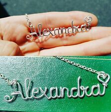 Custom Wire Name Necklace Personalized Gift Handmade silver plated