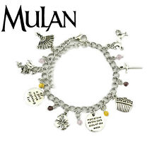 Disney's Mulan (8 Themed Charms) Assorted Metal Charm Bracelet