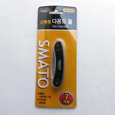 Outdoor 7 in 1 Multi Tools Screwdriver Scissors Bottle Opener Saw Pliers Phillip