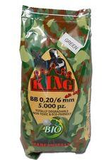 BUSTA 1kg 5000 PALLINI BIO SOFTAIR VERDI VERDE OLIVA BIODEGRADABILI 0.20g KING