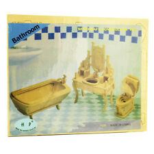 3d Wood Construction Puzzle Small - Bathroom