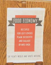 FOOD ECONOMY RECIPES FOR LEFT-OVERS KNOX GELATIN 1934