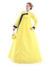 Hanbok Robe Coreenne sur mesure Coupe Longue Tenue de soiree Jaune Solaire