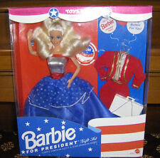 Cute 1991 Barbie For President Toys R Us Exclusive Patriotic Doll Gift Set NRFB