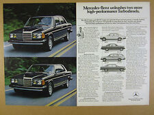 1981 Mercedes-Benz Turbodiesel 300D Sedan & 300CD Coupe photo vintage print Ad