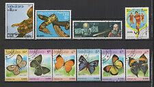 1986 postes Lao 10 timbres oblitérés / T1493