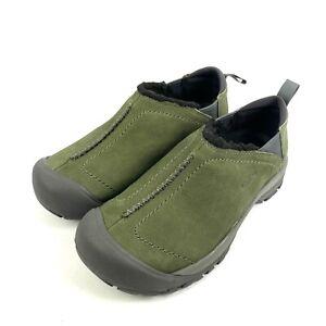 Keen Kaci Shoes 8.5 Wide Green Suede Nubuck Leather Slip On Women's Comfort