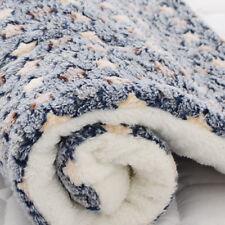 Pet Dog Puppy Warm Coral Fleece Blankets Plush Sleeping Bed Mat Supplies 1PC