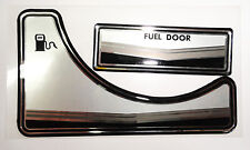 Vintage 80's 90's Automotive Fuel Door Scratch Guard Accent Trim ROUND LH MOUNT