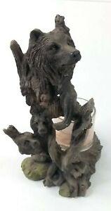 Bear head Nature Decor Votive Candle Holder