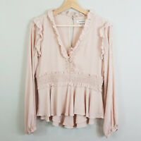 FOREVER NEW | Womens Isla Ruffle Blouse Top - DEFECT [ Size AU 10 or US 6 ]
