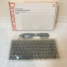 Sega Dreamcast Keyboard Controller HKT-4000 Clear UNUSED Japan game TRACKING