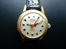 Caravelle 7 UBAC Lady's Automatic Watch 17j. ETA 2550 Red Second Hand N2 GC Runs