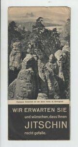 alter Prospekt Jitschin Prachower Felsen Böhmen 1930er Fotos Stadtamt Informat.
