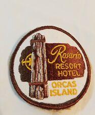 VINTAGE PATCH ORCAS ISLAND ROSARIO RESORT HOTEL WASHINGTON STATE USA