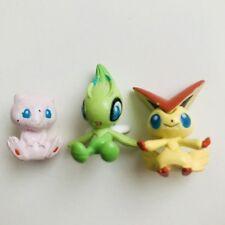 Mini MEW CELEBI & Victini Original Nintendo Pokemon Figures Toy Vintage 1 in (environ 2.54 cm)