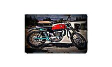 1966 Maico Mx Bike Motorcycle A4 Retro Metal Sign Aluminium