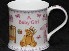 DUNOON A BABY GIRL Fine Bone China WESSEX Mug