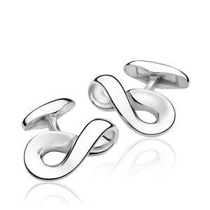Georg Jensen Silver Cuff Links # 452 - INFINITY
