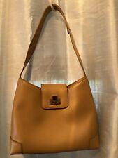 LIZ CLAIBORNE Accessories Genuine Beige Leather Tote Shoulder Bag