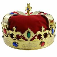 Royal Jeweled Kings Crown Costume Accessory Comfort Comfortable Beautiful Funny
