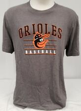 Brand New General Merchandise Men's MLB Baltimore Orioles Gray T-Shirt