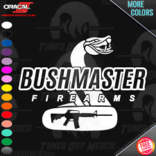 BUSHMASTER FIREARMS STICKER DECAL 3 inches tall X 5 inches wide