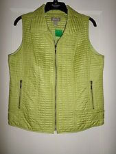 CHICO'S QUILTED LIME GREEN VEST NWT CHICOS 1 S/M