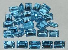 7x5mm Brazil Swiss Blue Topaz Baguette Emerald Cut